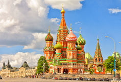 Cathedral of St. Basil at the Red Square in Moscow. Stock Images
