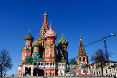 Cathedral of St. Basil at the Red Square in Moscow, Russia. Cathedral of saint Basil at the Red Square in Moscow, Russia Royalty Free Stock Photography