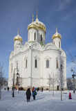 At the Cathedral of St. Catherine sunny winter day. Tsarskoye Selo Royalty Free Stock Photography
