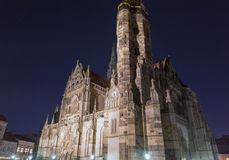 Night Cathedral of St. Elizabeth in Kosice, Slovakia. Royalty Free Stock Images