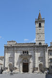 The Cathedral of St. Emidio in Arringo Square Stock Photos