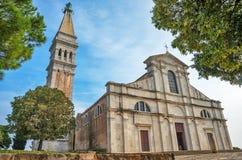 Cathedral of Rovinj, Croatia. Cathedral of St. Euphemia in Rovinj, Istria, Croatia, Adriatic coast stock photo
