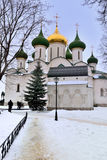 Cathedral of St. Euthymius Monastery in Suzdal in winter Stock Photos