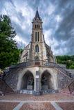 Cathedral St. Florin in Vaduz, Liechtenstein, Europe. It was built in 1874 by Friedrich von Schmidt royalty free stock photo