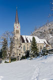 Cathedral of St. Florin in Vaduz Liechtenstein Stock Photography