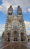 Cathedral St-Gatien, Tours, France Stock Image