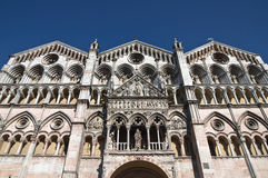 Cathedral of St. George. Ferrara. Emilia-Romagna. Stock Images