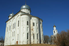Cathedral of St. George, St. Yurii Monastery, Veliky Novgorod Royalty Free Stock Images