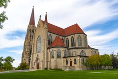 Cathedral of St Helena in Helena Montana. Built in 1908. Helena is the capital of Montana stock image