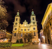 Cathedral of St. James of Innsbruck Royalty Free Stock Photos