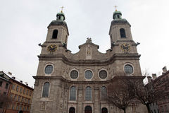 Cathedral of St. James, Innsbruck, Austria. Royalty Free Stock Images