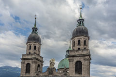 Cathedral of St. James in Innsbruck, Austria. Stock Image