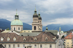 Cathedral of St. James in Innsbruck, Austria. Royalty Free Stock Images