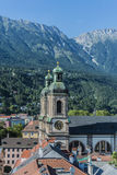 Cathedral of St. James in Innsbruck, Austria. Stock Photos