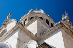 Cathedral of St James. Sibenik, Croatia. Cathedral of St James  build in Gothic and Renaissance style.  UNESCO World Heritage Site. - Sibenik, Croatia Royalty Free Stock Image
