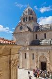 Cathedral of St. James in Sibenik, Croatia Stock Photos