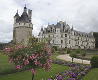 Castles of Loire in France. Château-de-Chenonceau royalty free stock photo