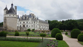 Castles of Loire in France. Château-de-Chenonceau stock photo