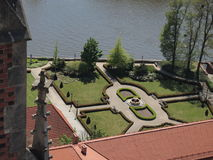 Cathedral of St. John the Baptist. View from tower of Cathedral. Gardens and river Odra. Wroclaw Stock Image