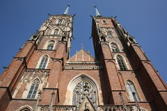 Cathedral of St. John the Baptist in Wroc�aw  Royalty Free Stock Images