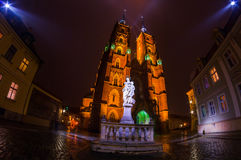 The Cathedral of St. John the Baptist in Wrocław at night Stock Photography