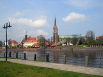 Cathedral of St. John the Baptist. Wroclaw Stock Photos