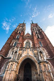 Cathedral of St. John the Baptist in Wroclaw Royalty Free Stock Photography