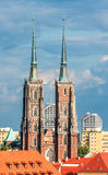 Cathedral of St. John the Baptist in Wroclaw Stock Photos