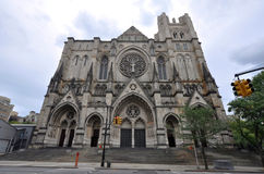 Cathedral of St. John the Divine. In Upper Manhattan, New York City, USA stock image