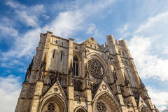 Cathedral of St. John the Divine. Head church of Episcopal Diocese of New York stock images
