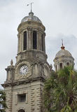 Cathedral, St. Johns, Antigua and Barbuda, Caribbean. Ruin of the cathedral of St. Johns, Antigua and Barbuda, Caribbean stock photos