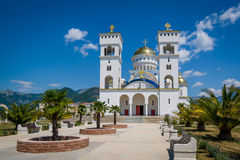 Cathedral of St Jovan Vladimir in Montenegro Stock Photography