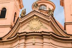 Cathedral of St. Lawrence on Pet�ín Hill Royalty Free Stock Images
