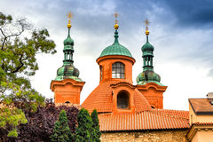 Cathedral of St. Lawrence on Petřín Hill Royalty Free Stock Photos