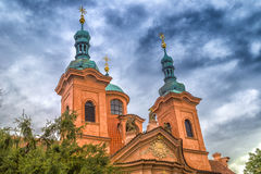 Cathedral of St. Lawrence on Petrin Hill Stock Images
