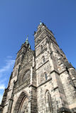 Cathedral St. Lorenz of Nuremberg Stock Image