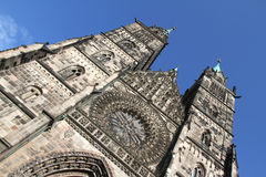 Cathedral St. Lorenz of Nuremberg Royalty Free Stock Image