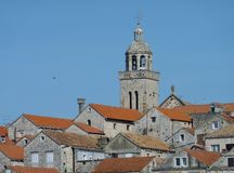The cathedral of St Marco in Korcula city in Croatia Stock Photo