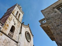 The cathedral of St Marco in Korcula in Croatia Royalty Free Stock Images
