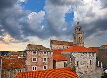 Cathedral of St. Mark and St.Peter church, Korcula. Croatia. Stock Images