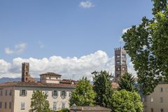 The Cathedral of St Martin in Lucca, Cattedrale di San Martino (Duomo di Lucca), Tuscany, Italy Stock Photography