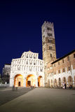 Cathedral of St Martin in Lucca at night Stock Photo
