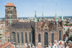 Cathedral of st. mary gdansk poland europe Royalty Free Stock Images