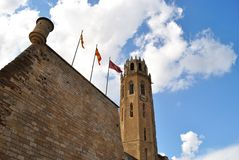 The Cathedral of St. Mary of La Seu Vella Royalty Free Stock Photos