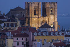 Cathedral of St. Mary in Lisbon Stock Photos