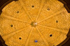 View of the Palma Cathedral ceiling. The Cathedral of St. Mary of Palma has a gothic style and is located in the center of the city Royalty Free Stock Photography
