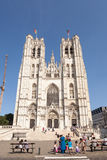 Cathedral of St. Michael and Gudula in Brussels, Belgium Stock Image