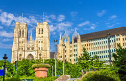 The Cathedral of St. Michael and St. Gudula Stock Photography