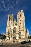 Cathedral of St. Michael and St. Gudula in Brussels Royalty Free Stock Photography