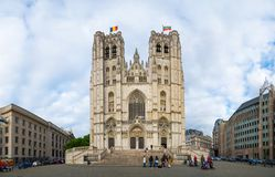Cathedral of St. Michael and St. Gudula in Brussels, Belgium royalty free stock image